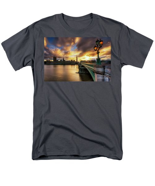 Fire In The Sky Men's T-Shirt  (Regular Fit)