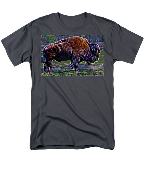 Fire Of A Bison  Men's T-Shirt  (Regular Fit) by Miroslava Jurcik