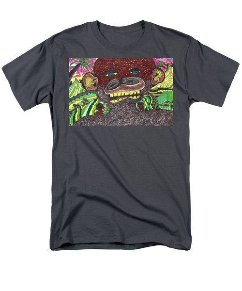 Men's T-Shirt  (Regular Fit) featuring the drawing First Jungle by Don Koester