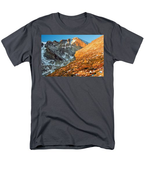 First Light At Longs Peak Men's T-Shirt  (Regular Fit) by Eric Glaser