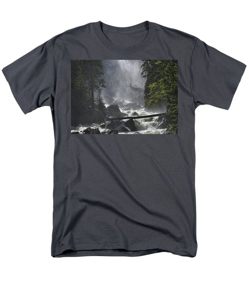Men's T-Shirt  (Regular Fit) featuring the photograph Fish Creek Mist by Don Schwartz