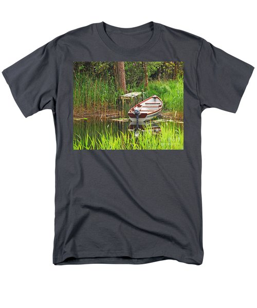 Men's T-Shirt  (Regular Fit) featuring the photograph Fishing Boat by Mary Carol Story