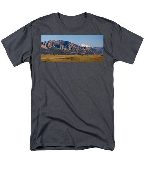 Flatirons And Snow Covered Longs Peak Panorama Men's T-Shirt  (Regular Fit) by James BO  Insogna