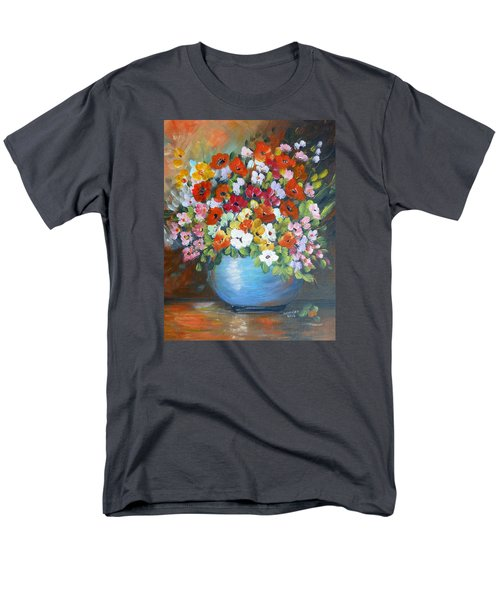 Men's T-Shirt  (Regular Fit) featuring the painting Flowers For A Friend by Dorothy Maier