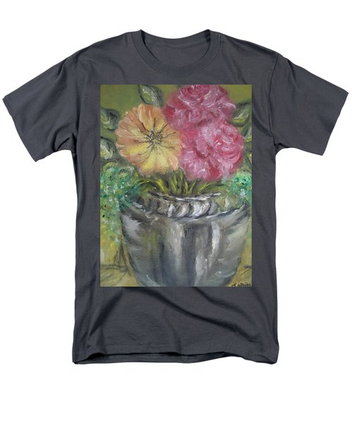 Men's T-Shirt  (Regular Fit) featuring the painting Flowers by Teresa White