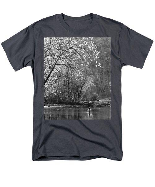 Fly Fisherwoman Bw Men's T-Shirt  (Regular Fit) by Denise Romano