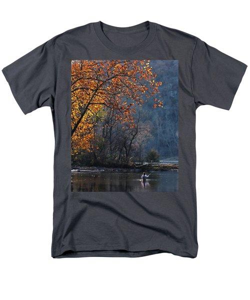 Fly Fisherwoman Men's T-Shirt  (Regular Fit) by Denise Romano