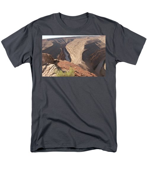Men's T-Shirt  (Regular Fit) featuring the photograph Fog Over Gooseneck Park  by Fortunate Findings Shirley Dickerson