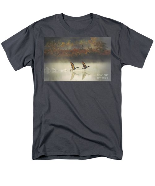 Foggy Autumn Morning Men's T-Shirt  (Regular Fit)