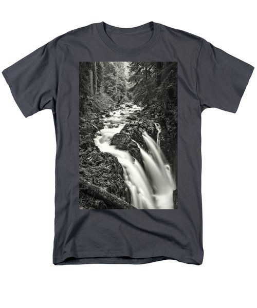 Forest Water Flow Men's T-Shirt  (Regular Fit) by Ken Stanback