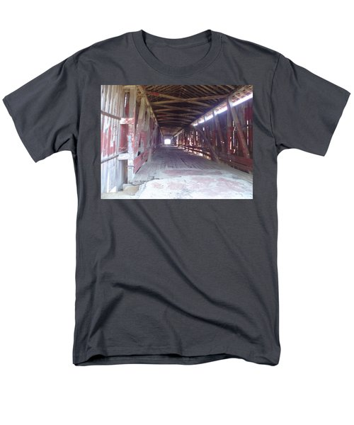 Men's T-Shirt  (Regular Fit) featuring the photograph Forgotten Tunnel by Fortunate Findings Shirley Dickerson