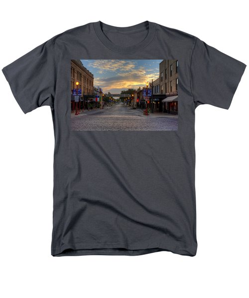 Fort Worth Stockyards Sunrise Men's T-Shirt  (Regular Fit) by Jonathan Davison