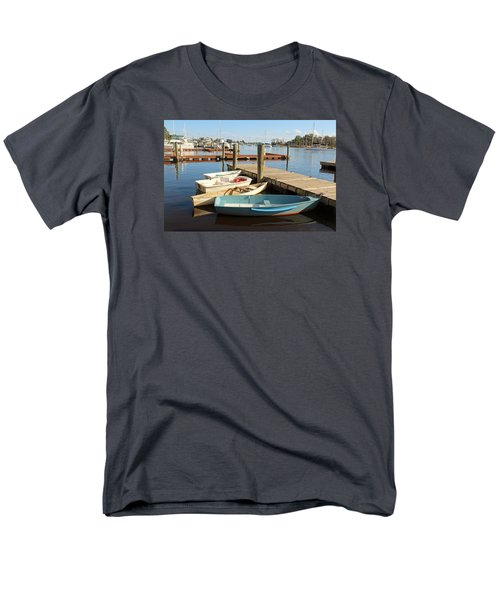 Men's T-Shirt  (Regular Fit) featuring the photograph Four Boats  by Cynthia Guinn