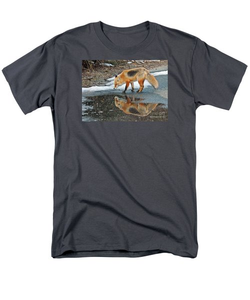 Men's T-Shirt  (Regular Fit) featuring the photograph Fox Reflection by Sami Martin