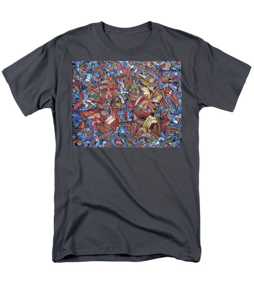 Men's T-Shirt  (Regular Fit) featuring the painting Fragmented Rose by James W Johnson