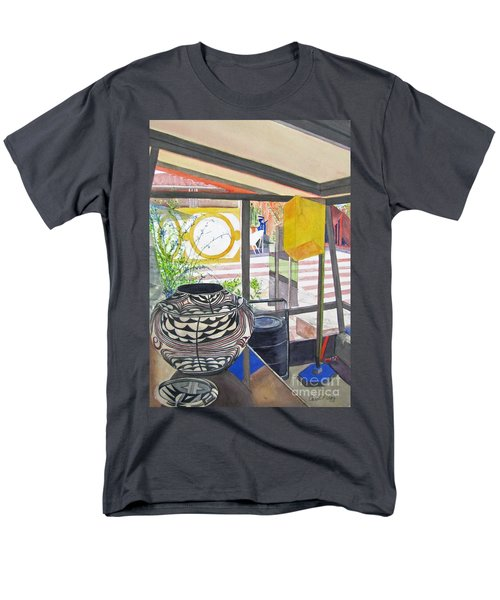 Men's T-Shirt  (Regular Fit) featuring the painting Frank Lloyd Wright Taliesin West by Carol Flagg