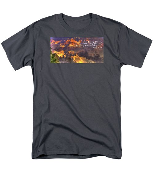 From The Rising Of The Sun...the Name Of The Lord Is To Be Praised - Psalm 113.3 - Grand Canyon Men's T-Shirt  (Regular Fit) by Michael Mazaika