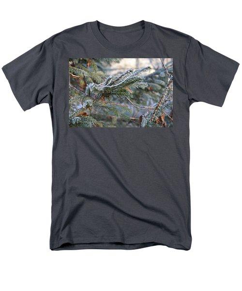 Men's T-Shirt  (Regular Fit) featuring the photograph Frozen Fir Branch  by Felicia Tica