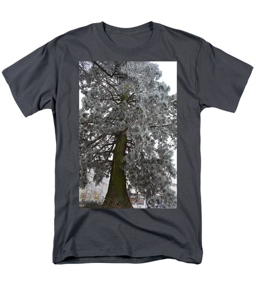 Men's T-Shirt  (Regular Fit) featuring the photograph Frozen Tree 2 by Felicia Tica