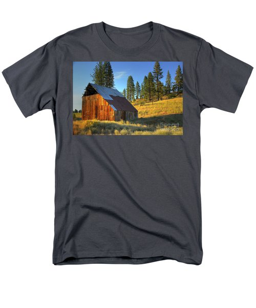 Men's T-Shirt  (Regular Fit) featuring the photograph Garden Valley Barn by Sam Rosen
