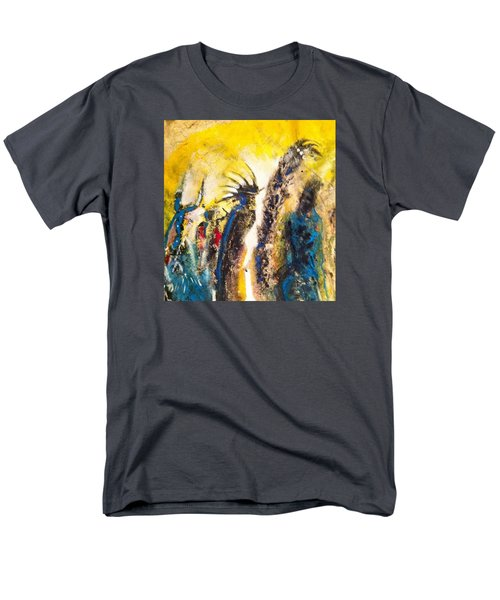 Men's T-Shirt  (Regular Fit) featuring the painting Gathering 2 by Kicking Bear  Productions