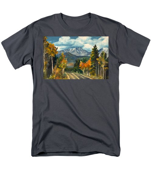 Men's T-Shirt  (Regular Fit) featuring the painting Gayle's Highway by Mary Ellen Anderson