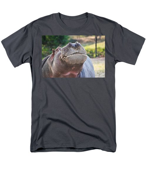 Men's T-Shirt  (Regular Fit) featuring the photograph Give Me A Kiss Hippo by Eti Reid
