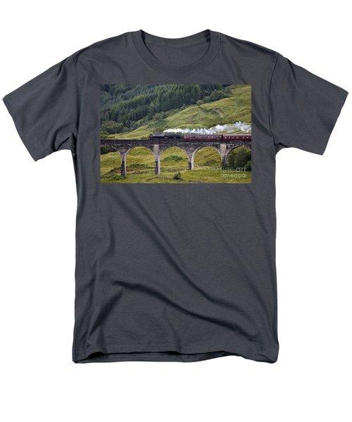 Glenfinnan Viaduct - D002340 Men's T-Shirt  (Regular Fit) by Daniel Dempster