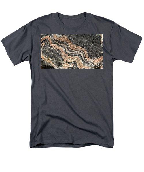 Gneiss Rock  Men's T-Shirt  (Regular Fit) by Les Palenik