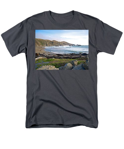 Goat Rock State Beach On The Pacific Ocean Near Outlet Of Russian River-ca  Men's T-Shirt  (Regular Fit) by Ruth Hager