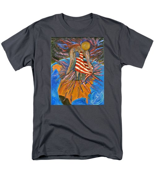 Men's T-Shirt  (Regular Fit) featuring the painting God Shed His Grace On Thee by Cassie Sears