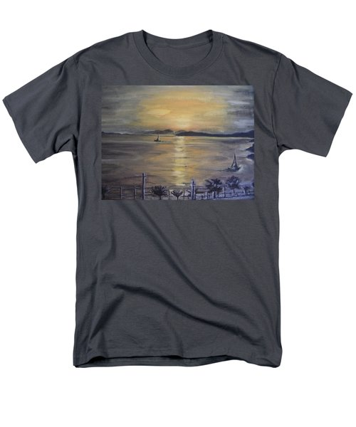 Golden Sea View Men's T-Shirt  (Regular Fit) by Teresa White