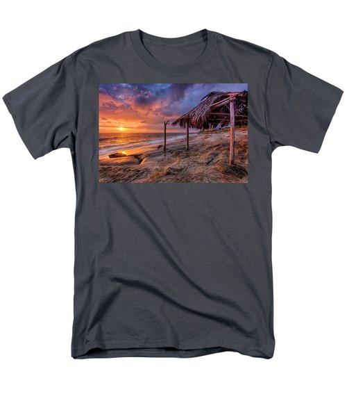 Golden Sunset The Surf Shack Men's T-Shirt  (Regular Fit) by Peter Tellone