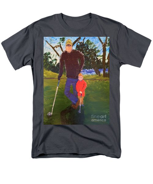 Men's T-Shirt  (Regular Fit) featuring the painting Golfing by Donald J Ryker III