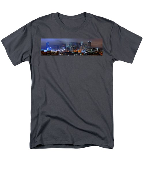 Gotham City - Los Angeles Skyline Downtown At Night Men's T-Shirt  (Regular Fit) by Jon Holiday