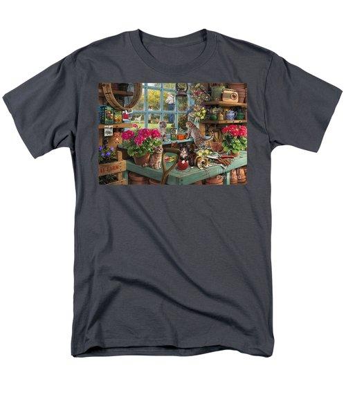 Grandpa's Potting Shed Men's T-Shirt  (Regular Fit) by Steve Read