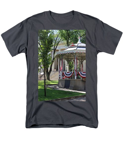 Men's T-Shirt  (Regular Fit) featuring the photograph Grandstand Patriotism  by Natalie Ortiz