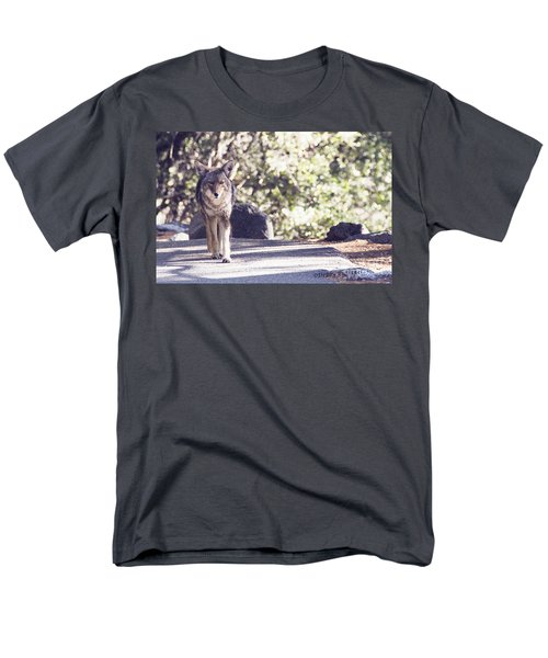 Coyote And Me At Vernal Falls Men's T-Shirt  (Regular Fit) by Debby Pueschel