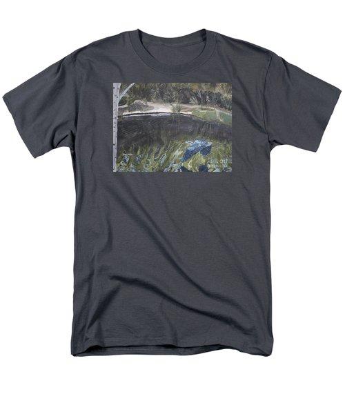 Great Blue Heron In Flight Men's T-Shirt  (Regular Fit) by Ian Donley