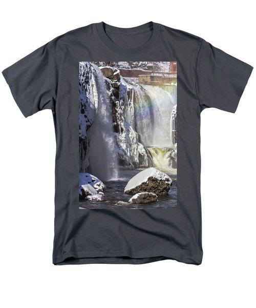 Great Falls And A Rainbow Men's T-Shirt  (Regular Fit)