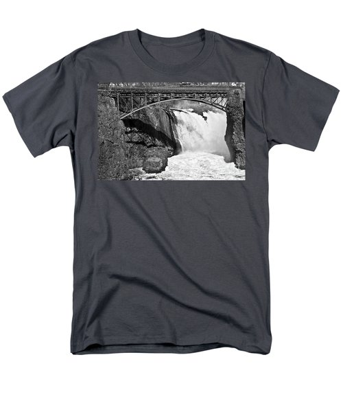 Great Falls In Paterson Nj Men's T-Shirt  (Regular Fit) by Anthony Sacco