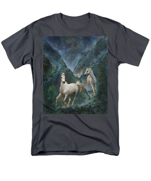 Green Canyon Run Men's T-Shirt  (Regular Fit) by Melinda Hughes-Berland
