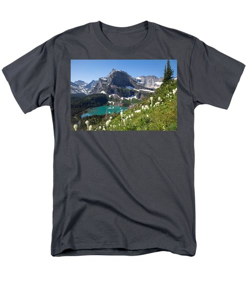 Grinnell Lake With Beargrass Men's T-Shirt  (Regular Fit) by Jack Bell