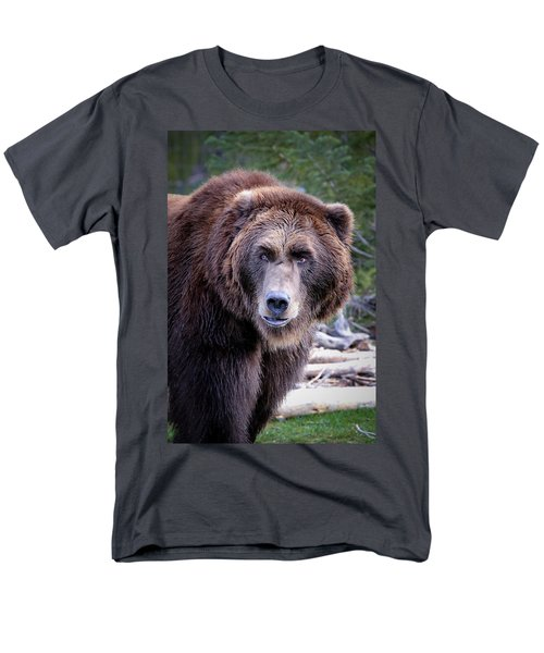 Men's T-Shirt  (Regular Fit) featuring the photograph Grizzly by Athena Mckinzie