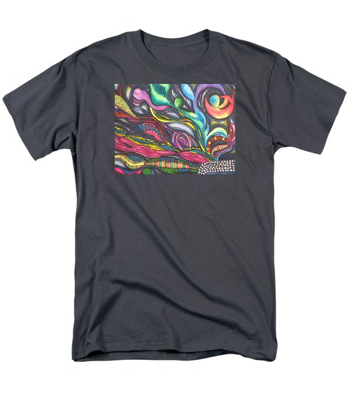 Men's T-Shirt  (Regular Fit) featuring the painting Groovy Series Titled Thoughts by Chrisann Ellis