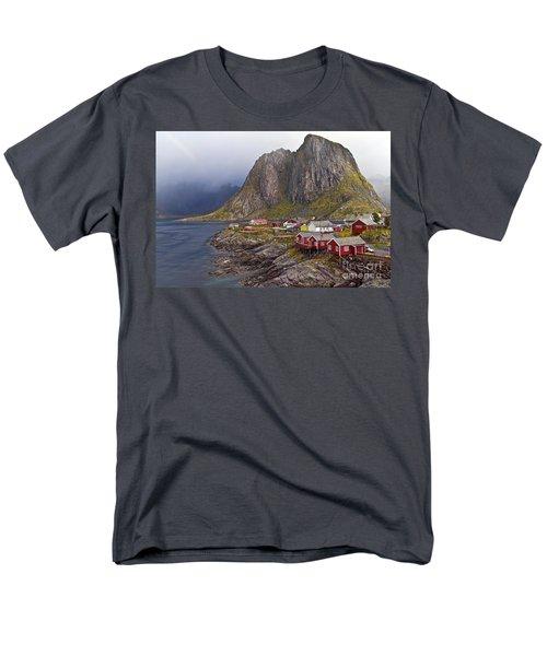 Hamnoy Rorbu Village Men's T-Shirt  (Regular Fit) by Heiko Koehrer-Wagner