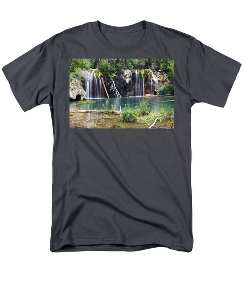 Hanging Lake Men's T-Shirt  (Regular Fit) by Eric Glaser