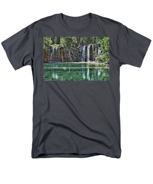 Hanging Lake Men's T-Shirt  (Regular Fit) by Priscilla Burgers