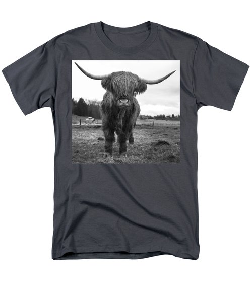 Happy Highland Cow Men's T-Shirt  (Regular Fit) by Sonya Lang