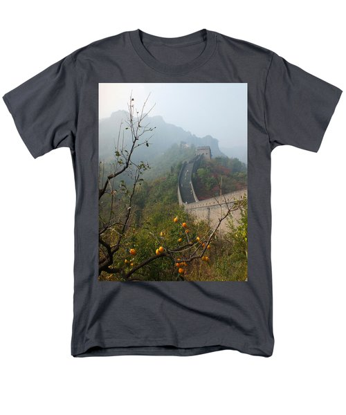 Harvest Time At The Great Wall Of China Men's T-Shirt  (Regular Fit) by Lucinda Walter